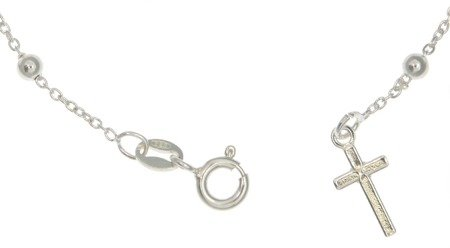 Różaniec srebrny - bransoletka różańcowa na rękę, dziesiątka 1,7-2,4 g, srebro pr. 925 BRP27