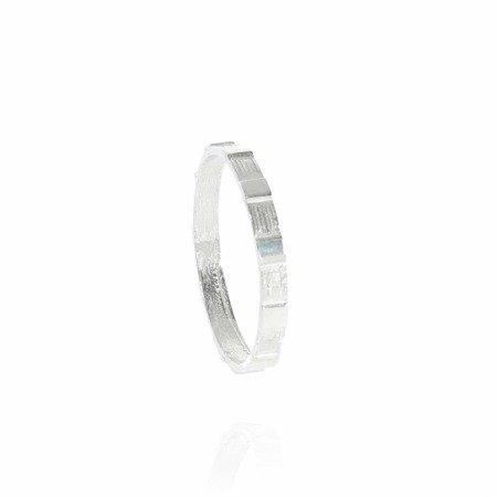 Różaniec srebrny obrączka na palec wąski, rozmiary 8-35  Srebro pr. 925 RPM02