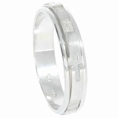 Różaniec srebrny obrotowa obrączka na palec wąska, rozmiar 10-30  Srebro pr. 925 RPO03