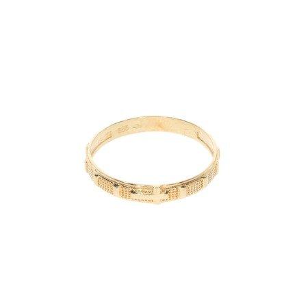 Różaniec złoty obrączka na palec, rozmiary 12-26  złoto pr. 585 ZRP01
