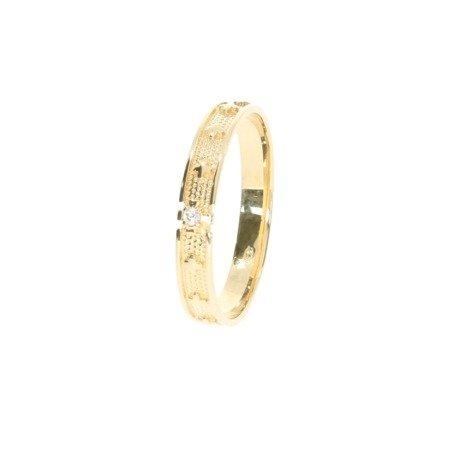 Różaniec złoty obrączka na palec, rozmiary 14-27  złoto pr. 585 ZRP02