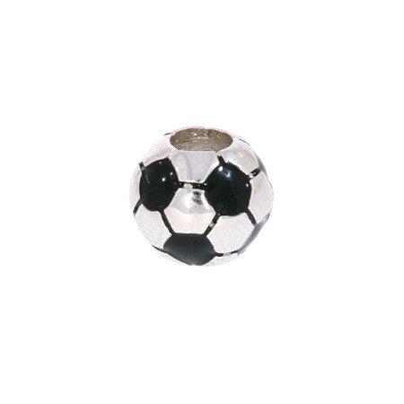 Srebrna przywieszka pr 925 Charms kulka piłka nożna PAN062