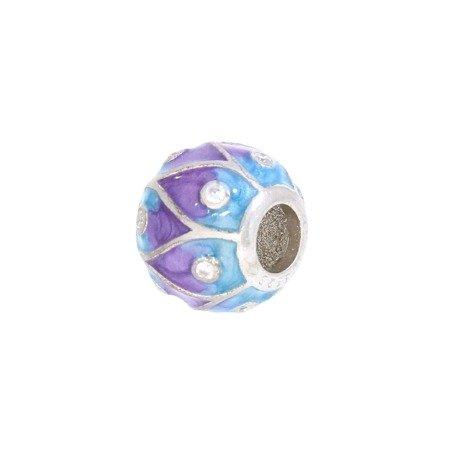 Srebrna przywieszka pr 925 Charms pawie oczko cyrkonie PAN054