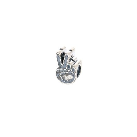 Srebrna przywieszka pr 925 Charms znak palce pokoj  PAN111