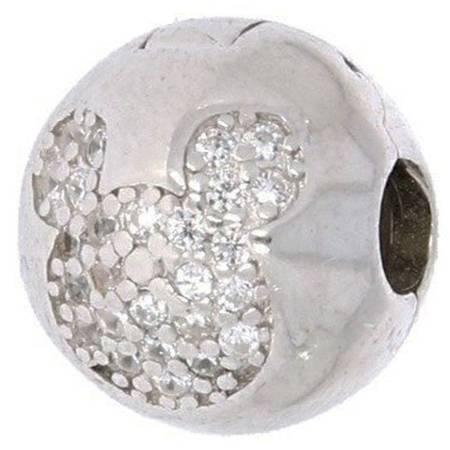 Srebrna przywieszka stoper pr 925 Charms kulka z myszką cyrkonie PAN033