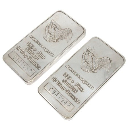 Sztabka inwestycyjna srebrna pr. 999,9 10 uncji trojańskich
