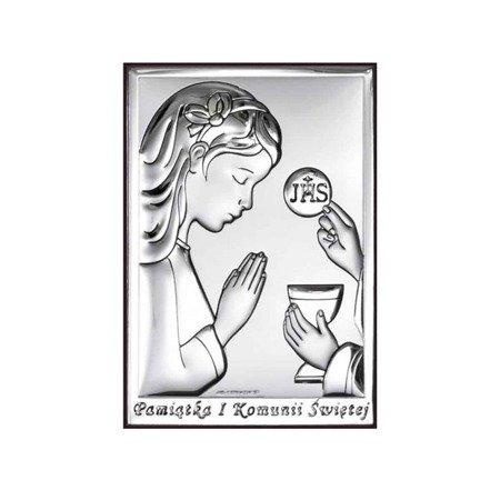 Zestaw Obrazek   Różaniec   Etui Pamiątka I Komunii 6491ASET