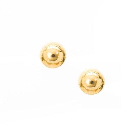Złote kolczyki pr. 585 Kulka połówka sztyft ZA045