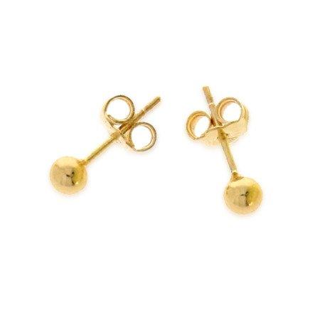 Złote kolczyki pr. 585 kulka dużą 5,0 mm sztyft ZA016