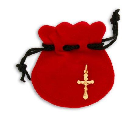 Złoty krzyżyk pr. 585 Krzyż z wizerunkiem Jezusa ZK030