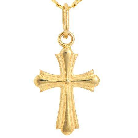Złoty krzyżyk pr. 585 Krzyżyk 2D ZK040