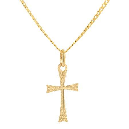 Złoty krzyżyk pr. 585 Krzyżyk płaski ZK041