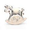473-3286 Skarbonka dziecięca z masy perłowej - beżowa, konik
