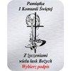 Grawer 4x5 cm, wzór numer 42 - Komunia