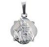 Medalik srebrny diamentowy - Matka Boska Szkaplerzna Szkaplerz MD003