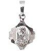 Medalik srebrny diamentowy - Matka Boża MD57