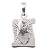 Medalik srebrny diamentowy - Święta Siostra Faustyna MD51