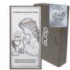 Obrazek Srebrny Pamiątka I Komunii dla dziewczynki prostokąt z podpisem DS30A
