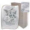 Obrazek srebrny Aniołki nad dzieckiem Pamiątka Chrztu Świętego 6581S
