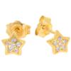 Złote kolczyki pr. 585 Gwiazdka cyrkonie sztyft ZA036