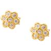 Złote kolczyki pr. 585 Kwiatuszek cyrkonie sztyft ZA041