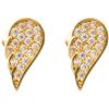 Złote kolczyki pr. 585 Skrzydło małe cyrkonie sztyft ZA059