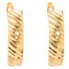 Złote kolczyki pr. 585 diamentowane I (angielskie zapięcie) ZA070