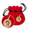 Złoty medalik pr. 585 Madonna z dzieciątkiem koło ZM035
